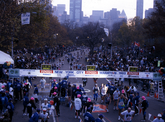 New York City Marathon in 1993