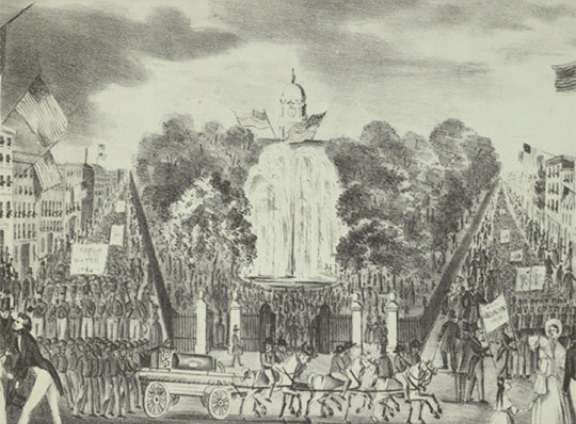 The opening of the Croton Aqueduct