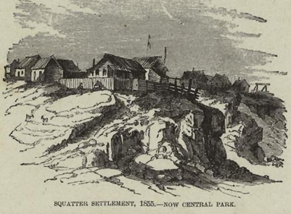 Settlement in Central Park, 1855