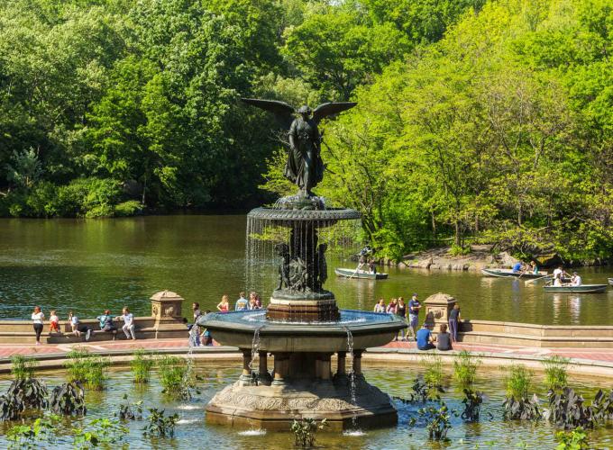 Bethesda Fountain, created by Emma Stebbins