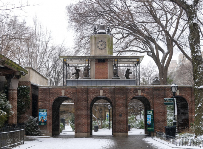 Delacorte Clock playing holiday classics