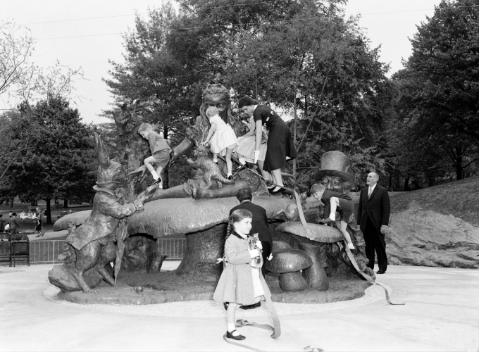 Alice in Wonderland, soon after its installation in 1959.