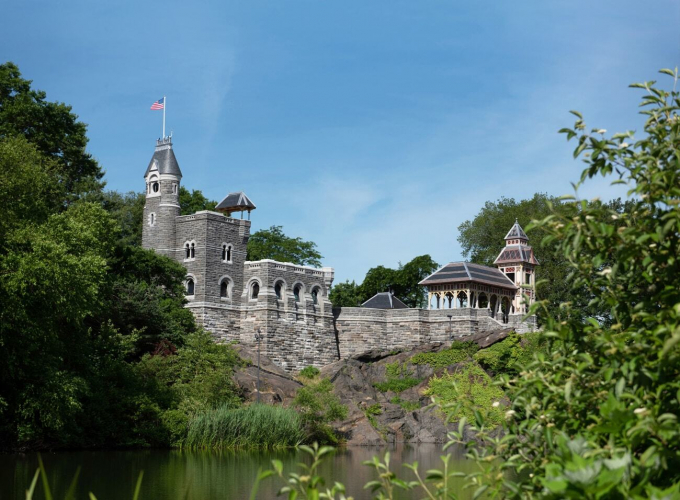 The newly-restored Belvedere Castle