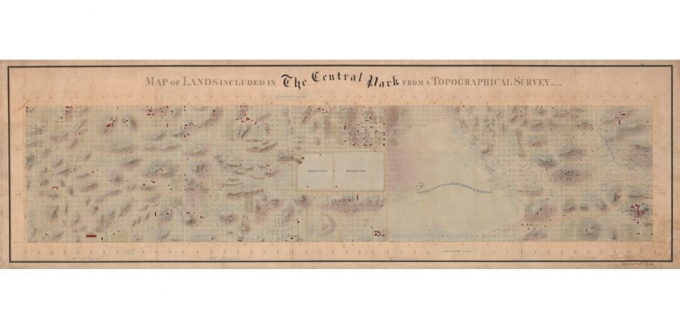 1855 map of Central Park