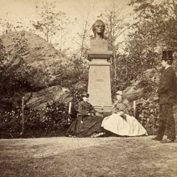 Schiller Monument, the Park's first.