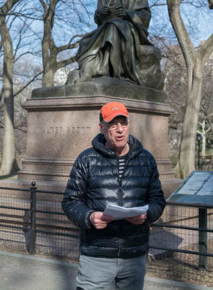 Mark Bittman at a pop-up reading on Literary Walk