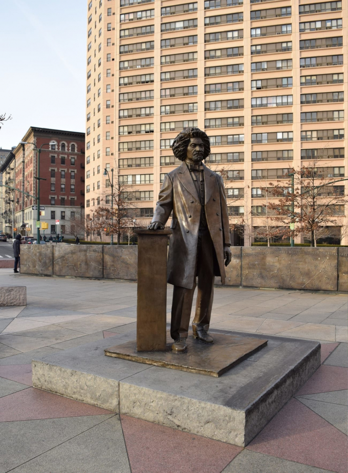 Frederick Douglass statue, dedicated in 2010