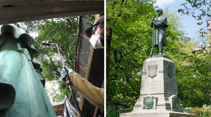 7th Regiment Memorial, Before and After