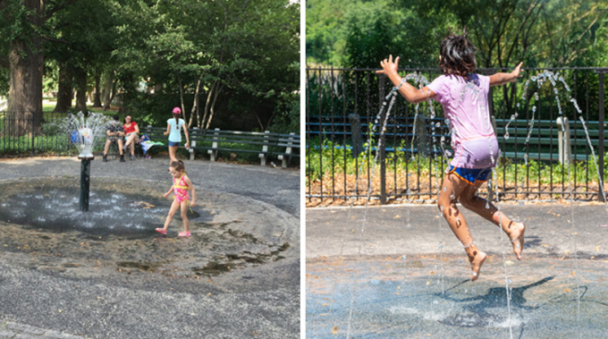Playground Water Feature - Before and After
