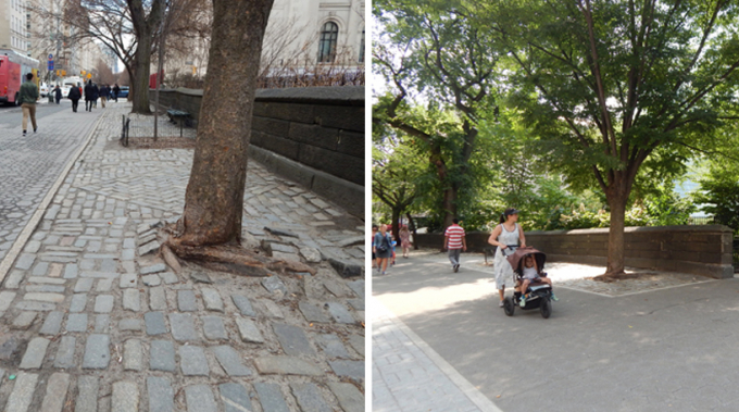 East 85th Street Perimeter - Before and After