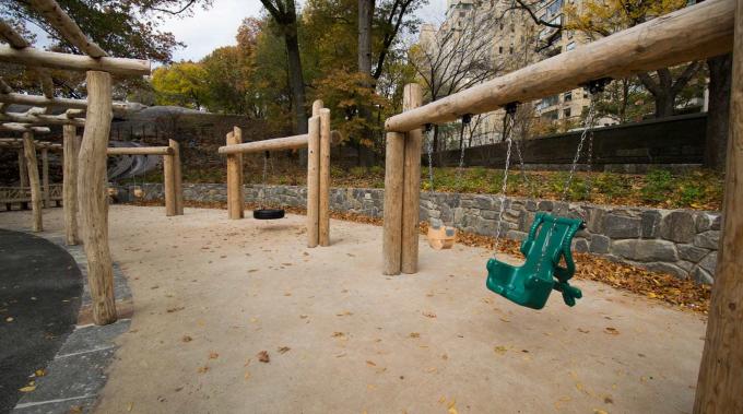 Swing Set with rustic pergola