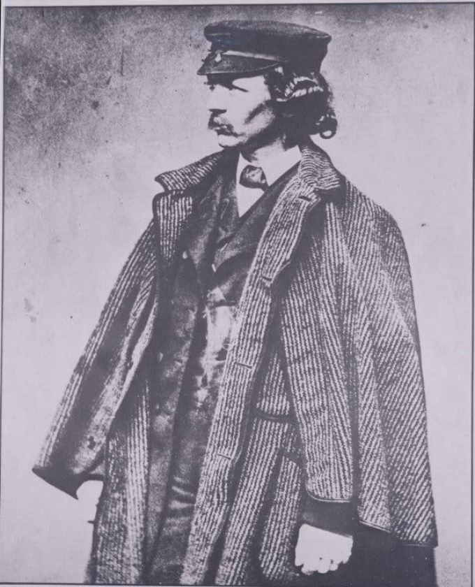 Historical photo of Frederick Law Olmstead dressed for the outdoors