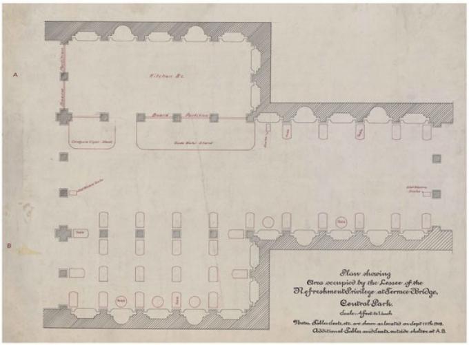 Bethesda Arcade refreshment stand, 1909