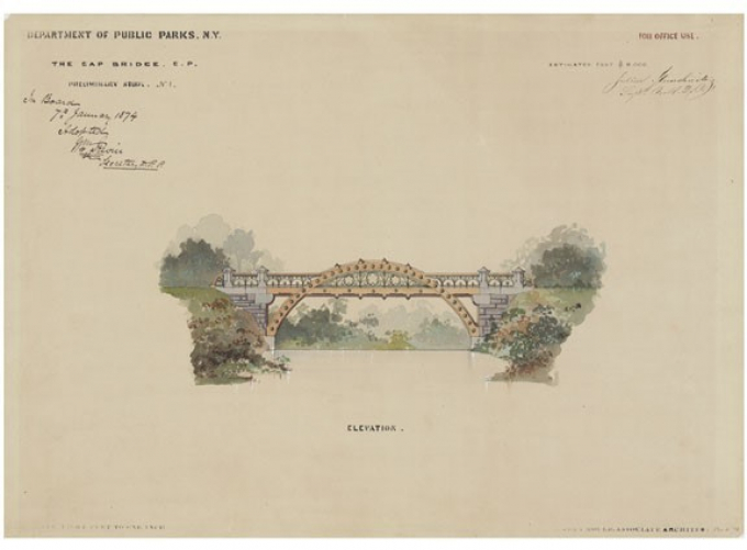 Gapstow Bridge, preliminary study, 1873