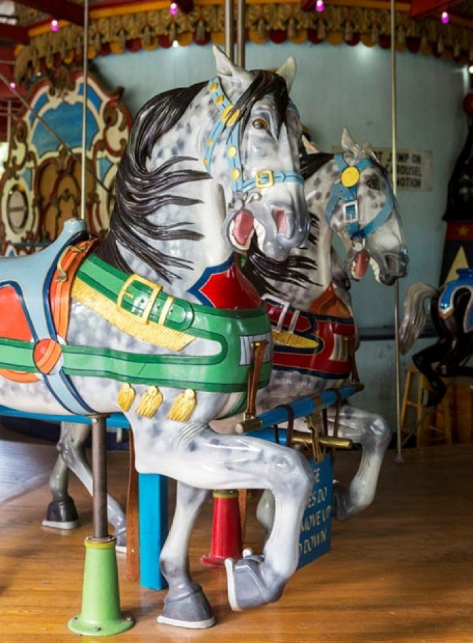 Colorful horses of the Carousel