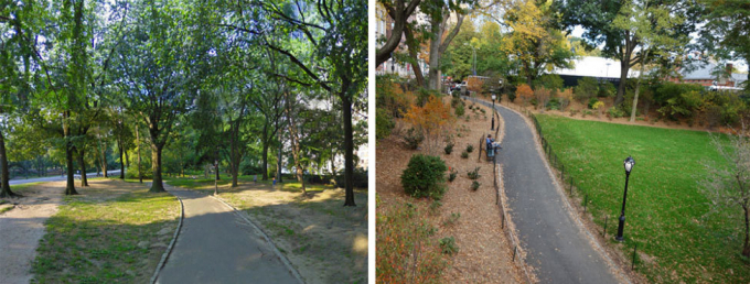61st Street landscape before and after