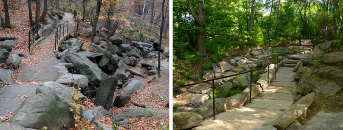 Stone crossing, before and after