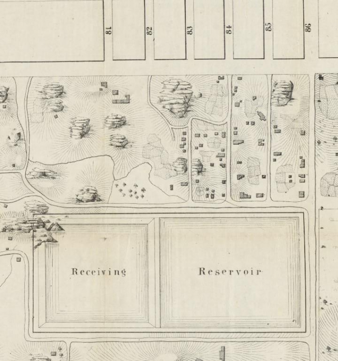An old map showing the location of Seneca Village