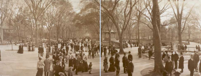Stereograph of Central Park