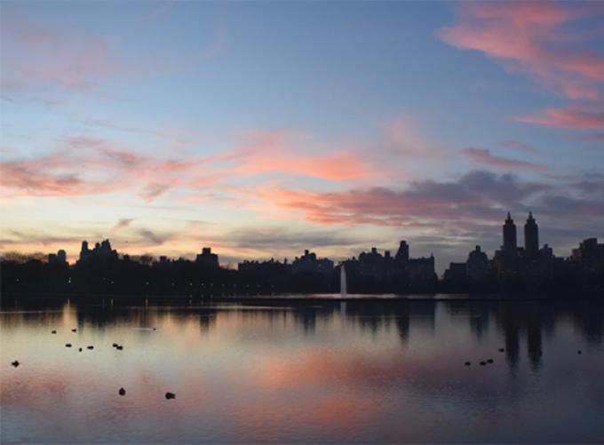 Sunset over the Reservoir