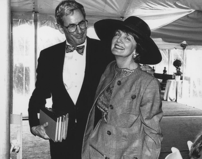 Richard Gilder and Elizabeth Barlow in 1994