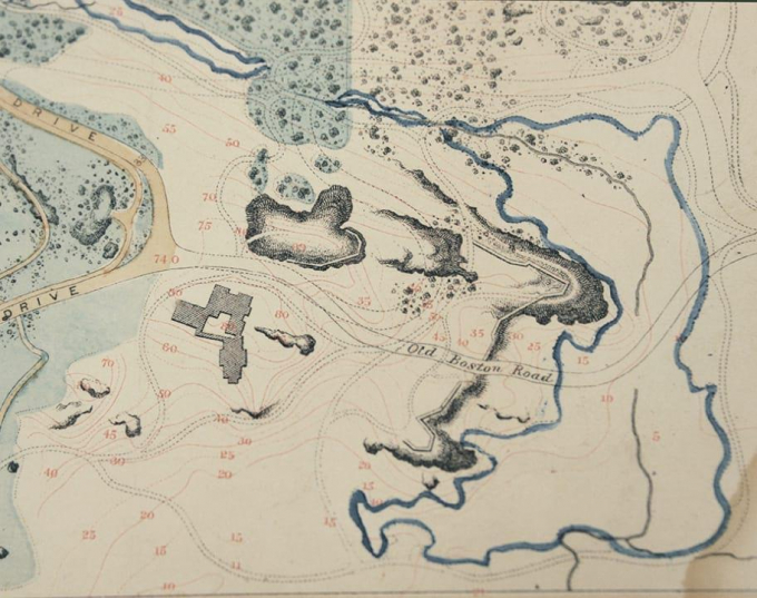 19th-century map showing the Harlem Meer