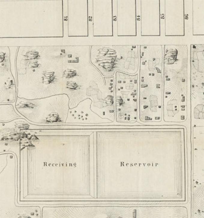 Map detail of pre-Park landscape, 1856