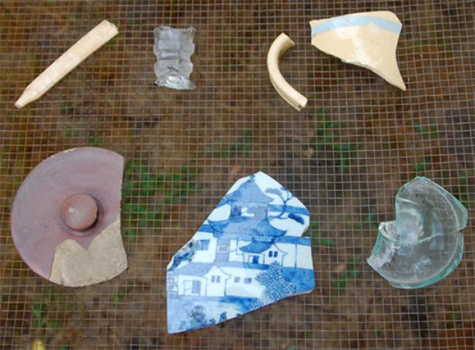 Artifacts discovered at Seneca Village