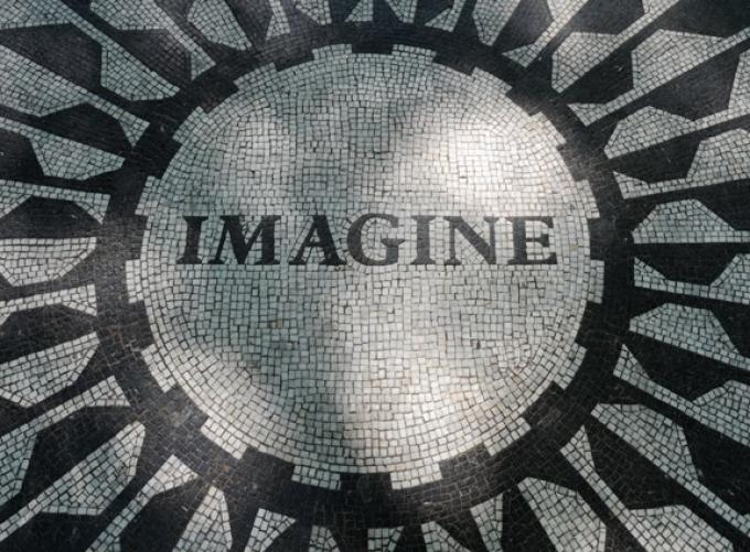 Imagine mosaic, selected by Yoko Ono