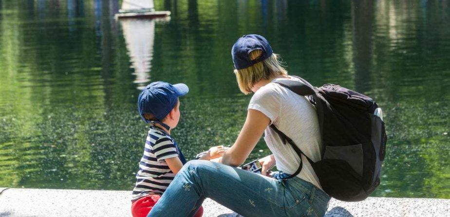 Mother and Son at Conservatory Water