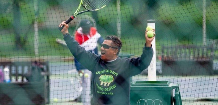Tennis Pro Jorge celebrating
