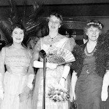 Mary Harriman Rumsey with Eleanor Roosevelt and Rep. Isabella Greenway of Arizona, 1934