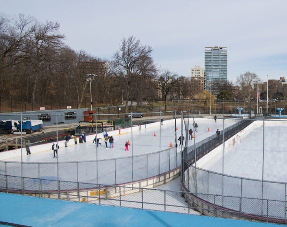 Skating on the Lasker Rink