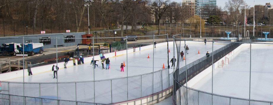 Skating on the Lasker Rink