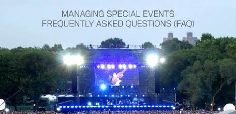 Managing Special Events FAQ