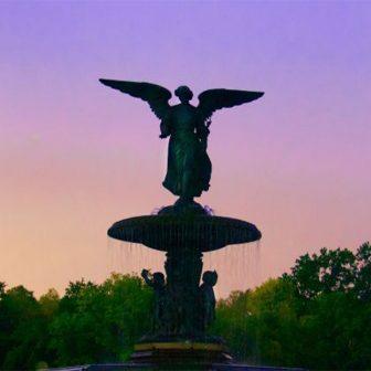 Bethesda Fountain at twilight