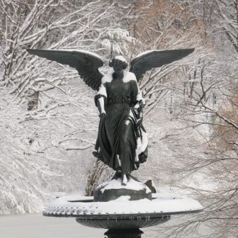 Lady of the Waters in winter