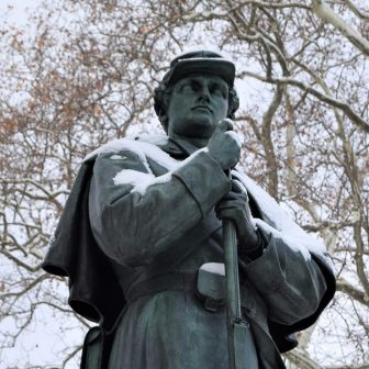 7th Regiment Memorial in winter