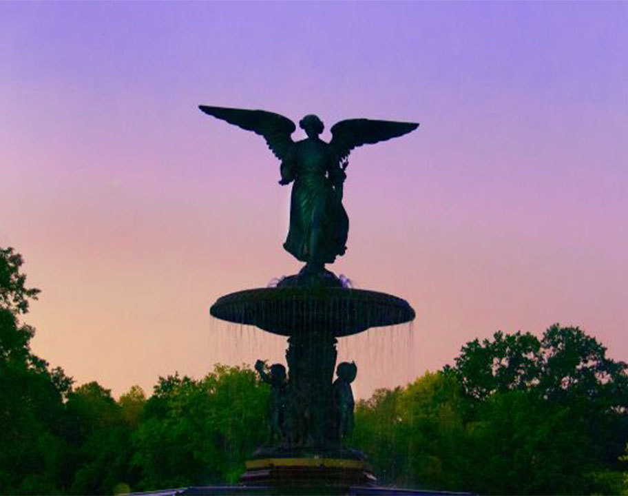 Bethesda Fountain at twilight