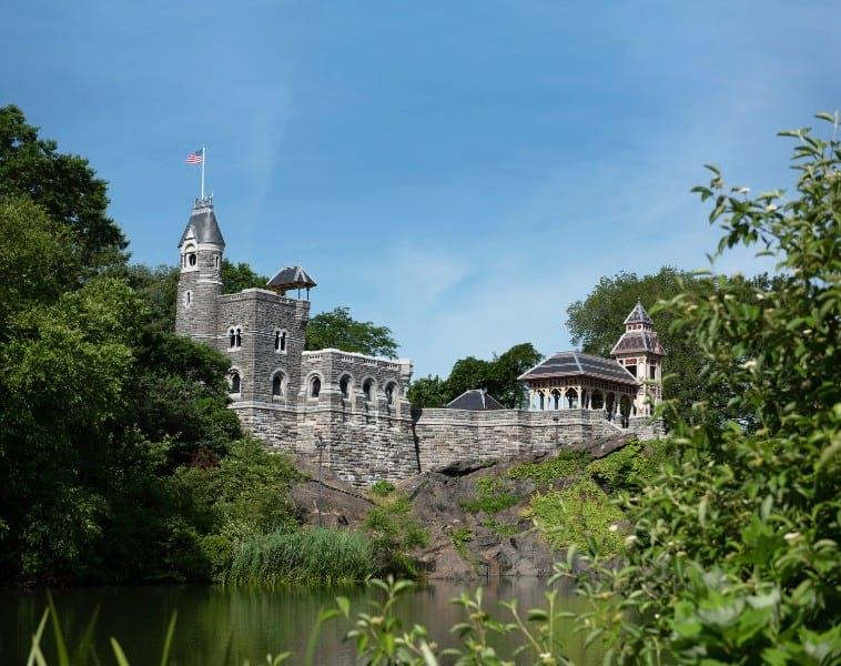 Belvedere Castle under a blue summer sky