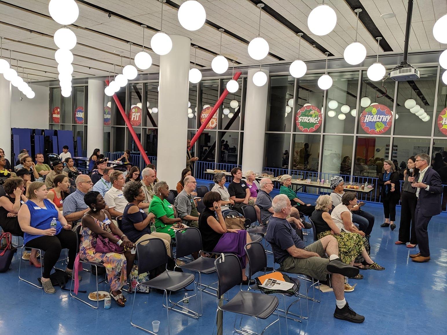 Community meeting at the Harlem Children's Zone